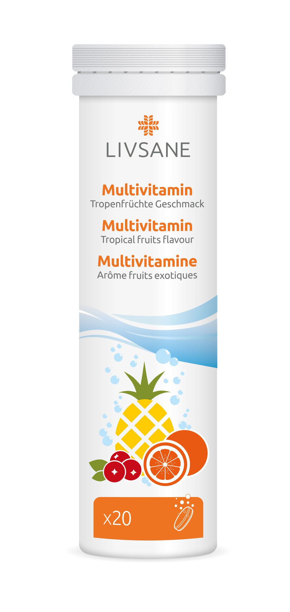 LIVSANE Multivitamin šumivé tablety 20 ks Image