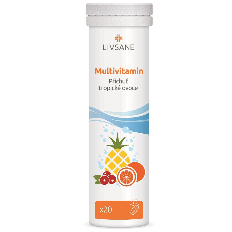 LIVSANE Šumivé tablety Multivitamin tropic 20ks Image
